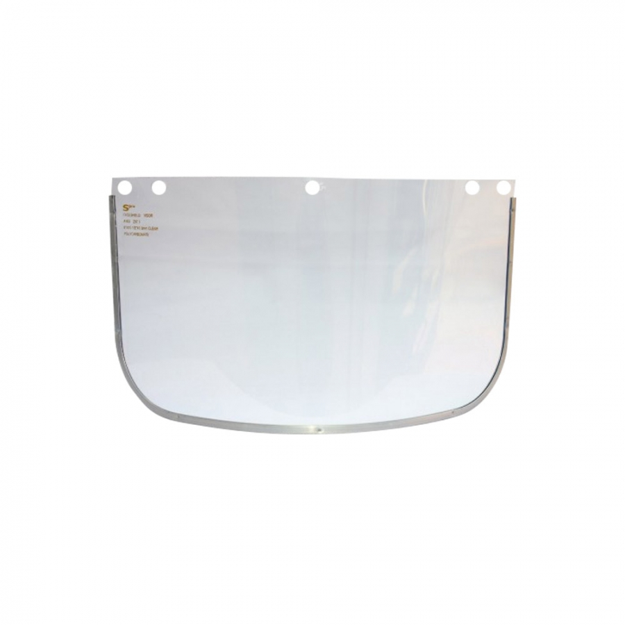 "VISOR CLARO 8"" X 15.5"" X 1 MM BORDE ALUMINIO"